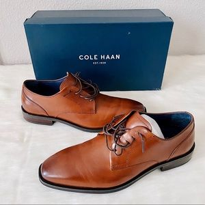 ✨New COLE HAAN Dawes Grand Plain Toe Leather Derby